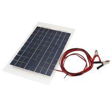 18 V 10 W Caricatore Portatile Pannello Solare Pannello Solare FAI DA TE Casa Pannello Solar Power Battery per Auto W/Clip coccodrillo(China (Mainland))