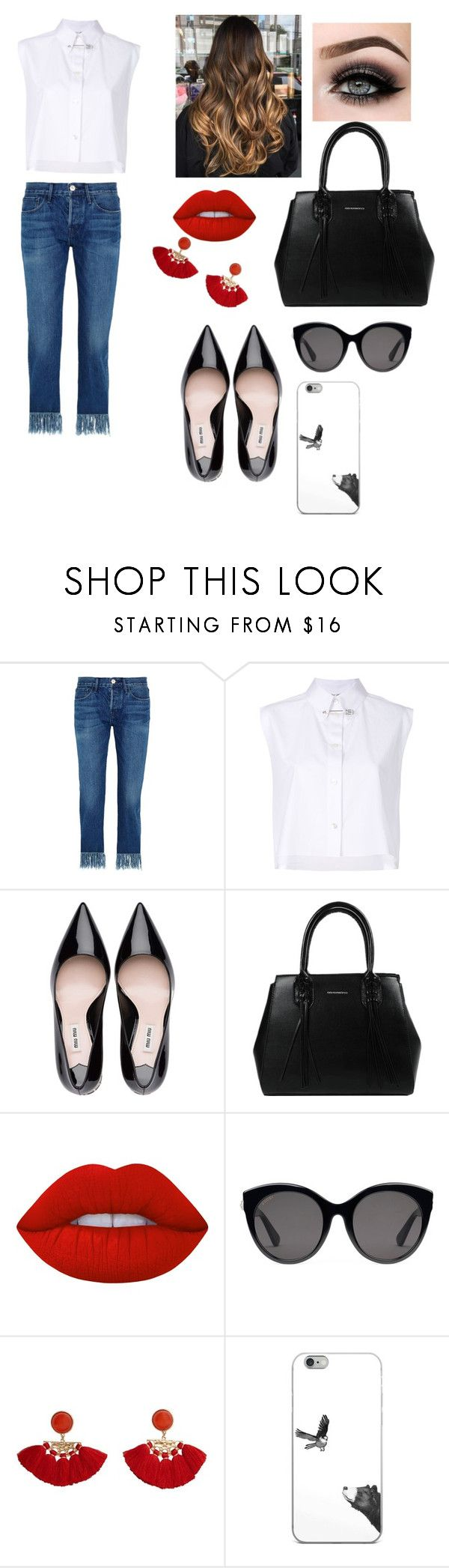 """Funky days"" by emily-bielefeld ❤ liked on Polyvore featuring 3x1, Helmut Lang, ASAP, Lime Crime, Gucci and MANGO"