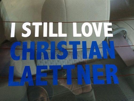 DUKE Basketball I STILL LOVE CHRISTIAN LAETTNER CAr decal.