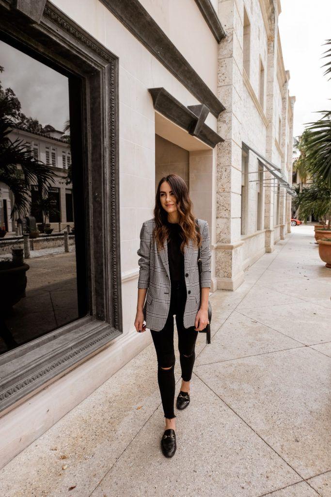 Check Blazer For Fall - Laura's Edit | Blazer outfits for women, Check blazer outfit women, Chic outfits