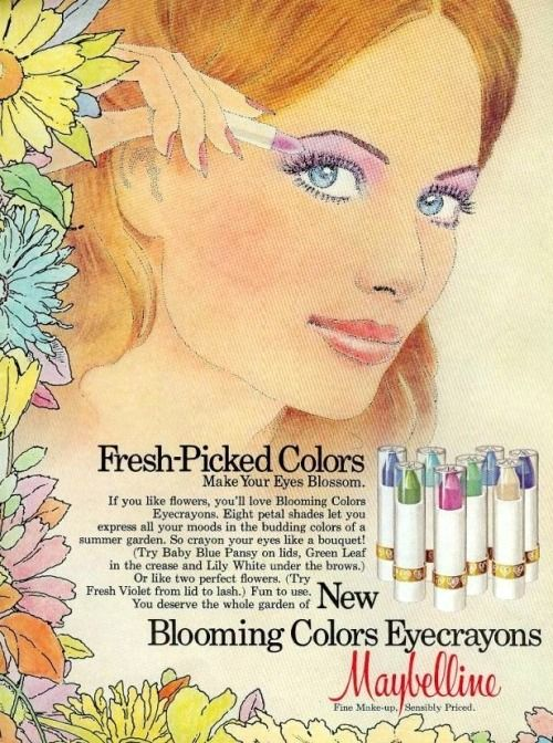 Maybelline ad featured in Teen magazine, August 1975