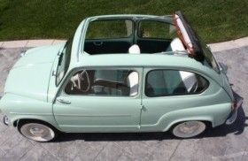 """1960 Fiat 600 this is just like my """"first car""""-mine was not convertible"""