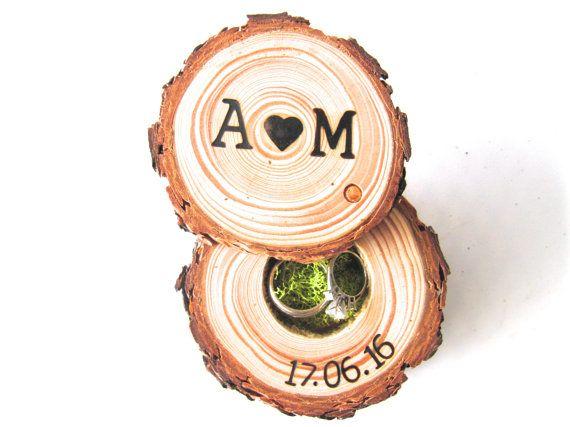 Engagement Ring Box Wedding Ring Box Rustic by EndGrainWoodShoppe