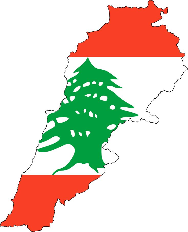 Lebanon Flag Map. Lebanon, officially known as the Lebanese Republic, is a sovereign state in Western Asia. It is bordered by Syria to the north and east and Israel to the south, while Cyprus is west across the Mediterranean Sea. At just 4,036 sq. mi., it is the smallest recognized country on the mainland Asian continent.
