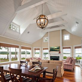traditional family room by George Penniman Architects, LLC