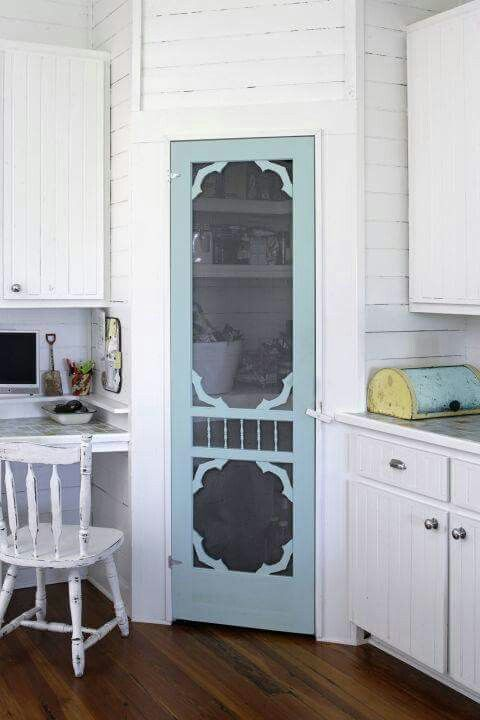 Replace The Pantry Door With A Screen Door To Add A