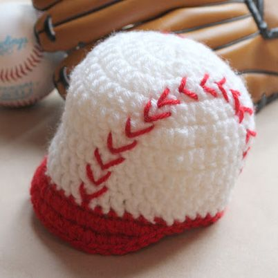 Repeat Crafter Me: Crocheted Baseball Hat Free Pattern