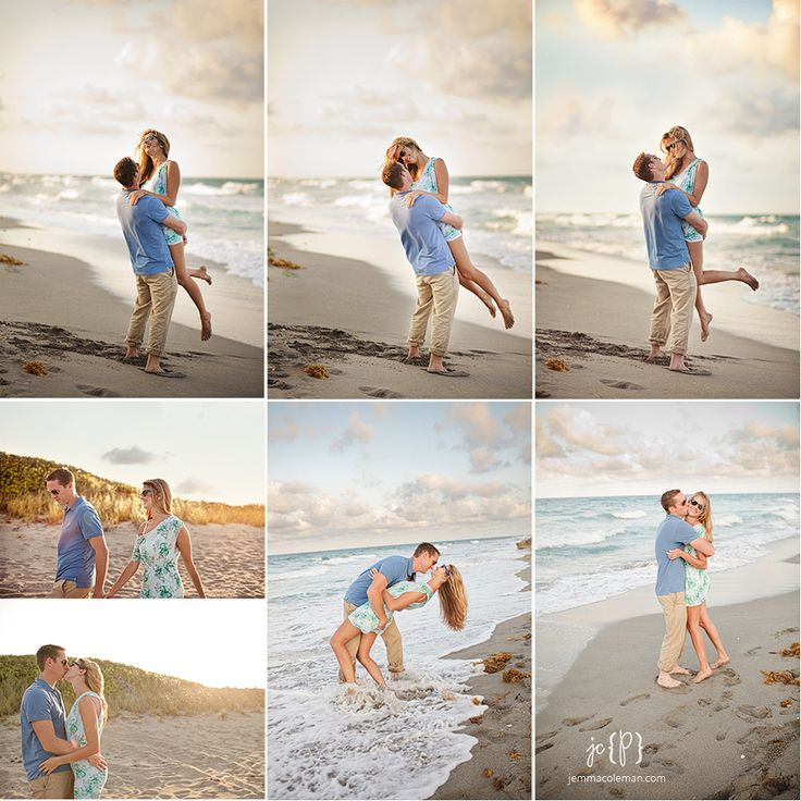 Engagement photos on the beach romantic light engagement photos blowing rocks jupiter island www