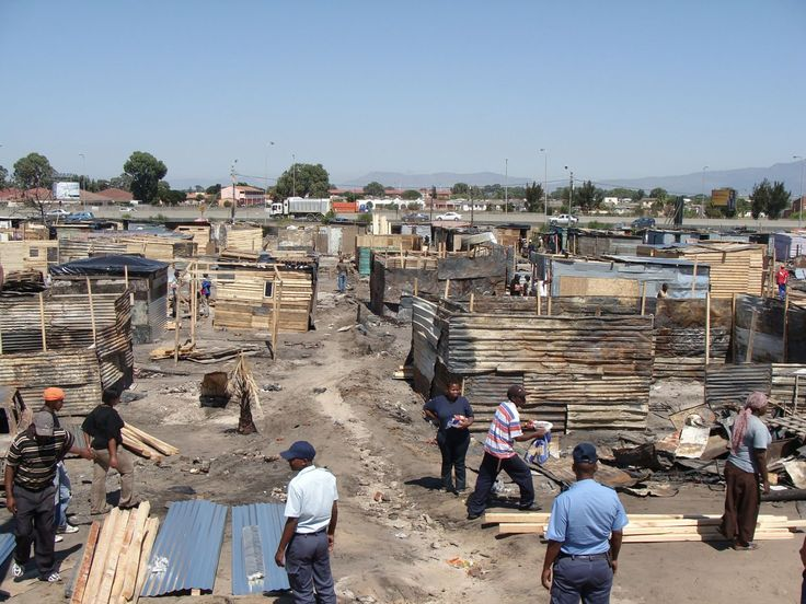 Joe Slovo after 465 shacks were destroyed by a raging fire.