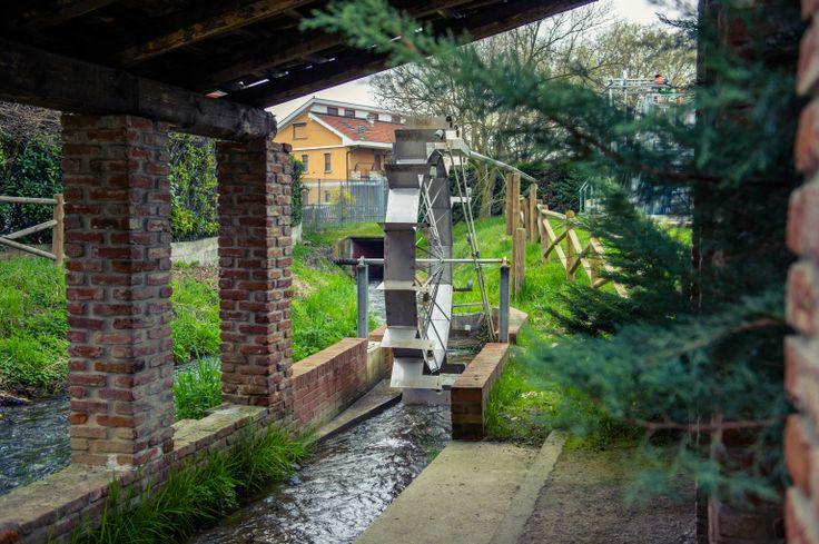 Ruote idrauliche interattive, realizzate da #Wesen per il Parco dell'Energia di Settimo Torinese - #installazioni #musei #interazione #Torino