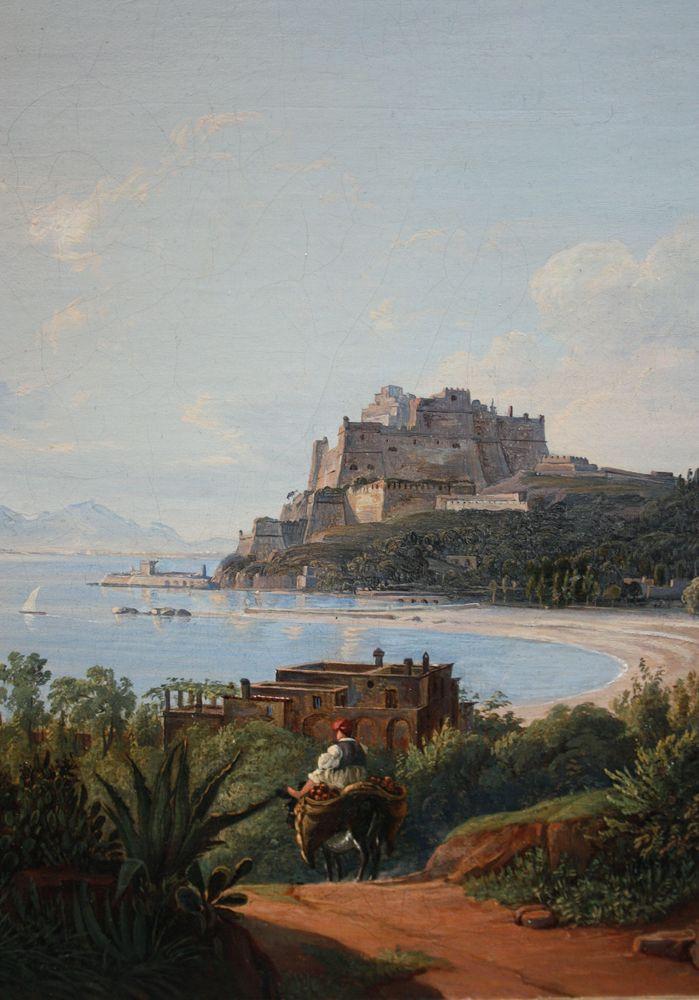 c_Castel (detail) - Giacinto Gigante ( 1806 - Naples - 1876 ), attr.to