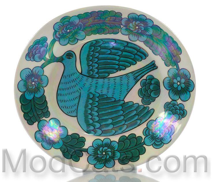 Birger Kaipiainen for Arabia Iridescent Art Plate