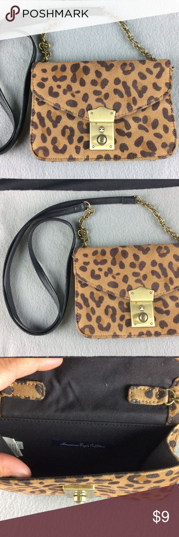 American Eagle Outfitters Animal Print Purse 👛 The strap length is 23 inches. Super Cute cross over body Purse ❤️️ Bundle 3 or more items and Save 20% ❤️️ Any questions let. Me know. 😀 American Eagle Outfitters Bags Crossbody Bags