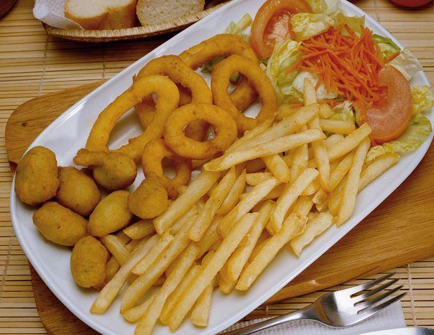 plato combinado de calamar ....