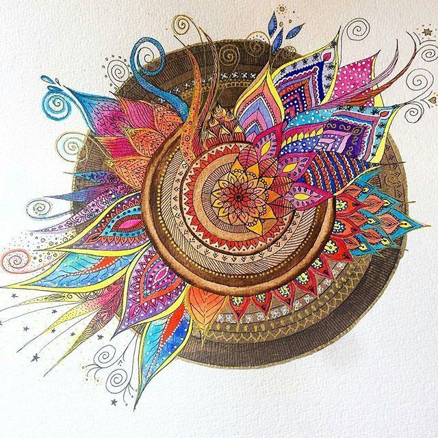 WEBSTA @ manda.la.la - We love this mandala by @sira.mercan.design.