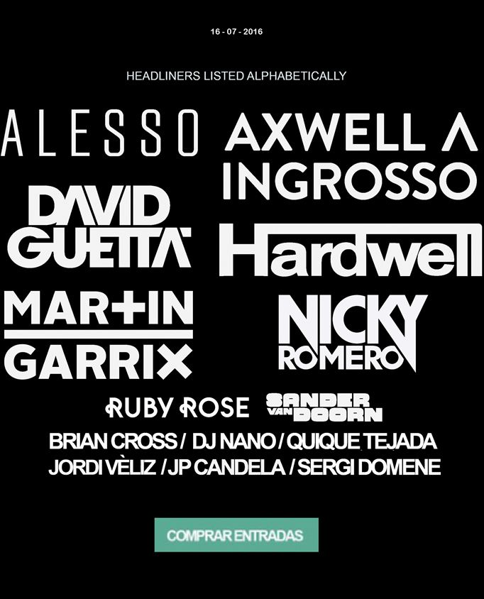Barcelona Beach Festival around 16th July