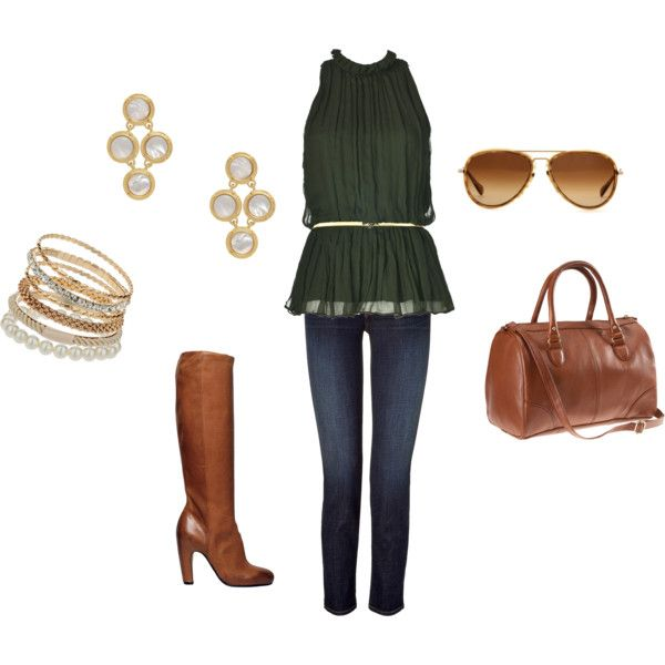 Cute hunter green top/outfit :)