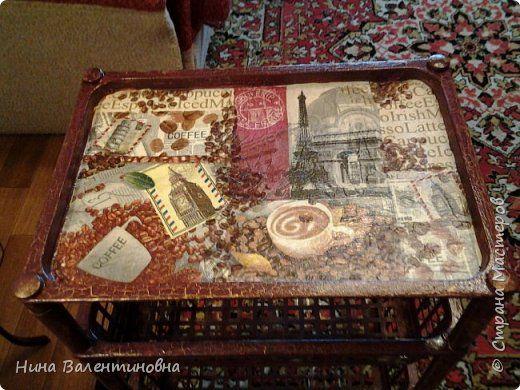 Декор предметов Декупаж Кофейный столик и салфетки на стол Салфетки фото 2