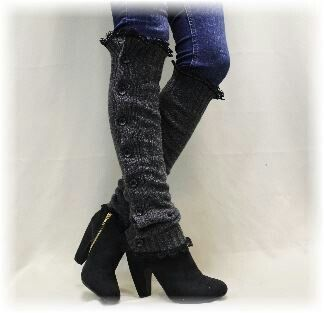 Button Up Leg Warmer U0026 Ankle High Boots Over Skinny Jeans ...