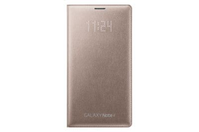 Galaxy Note 4 LED Flip Cover (Bronze Gold)