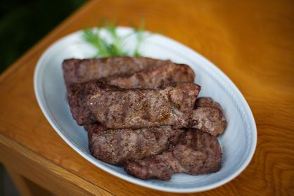 Venison Steak Recipe: Grilled over High Heat with Sea Salt and Black Pepper, Served with Chimichurri Sauce