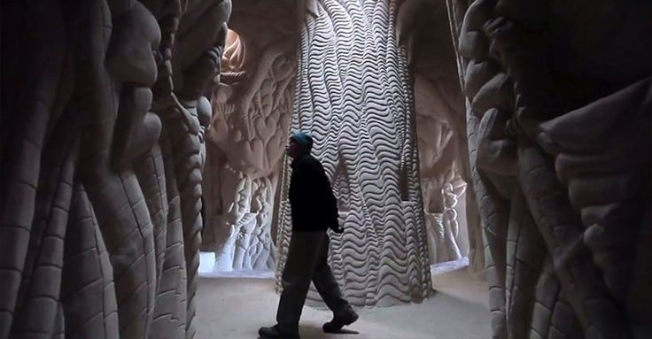 Man Spends 25 Years Hand-Digging Beautiful Caves With Unbelievably Detailed Interiors