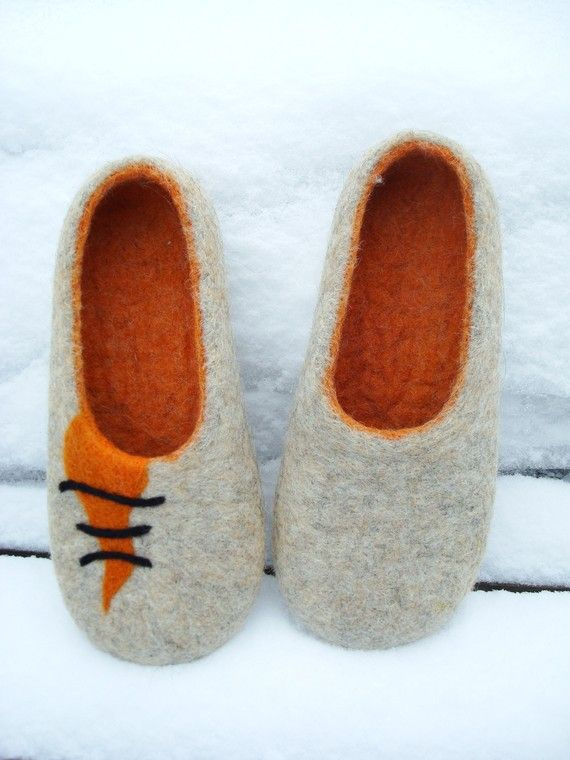 Felted wool slippers