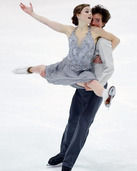 Alexandra Paul and Mitchell Islam, Free dance at Nebelhorn Trophy 2013, Ice Dance Costume inspiration for Sk8 Gr8 Designs.