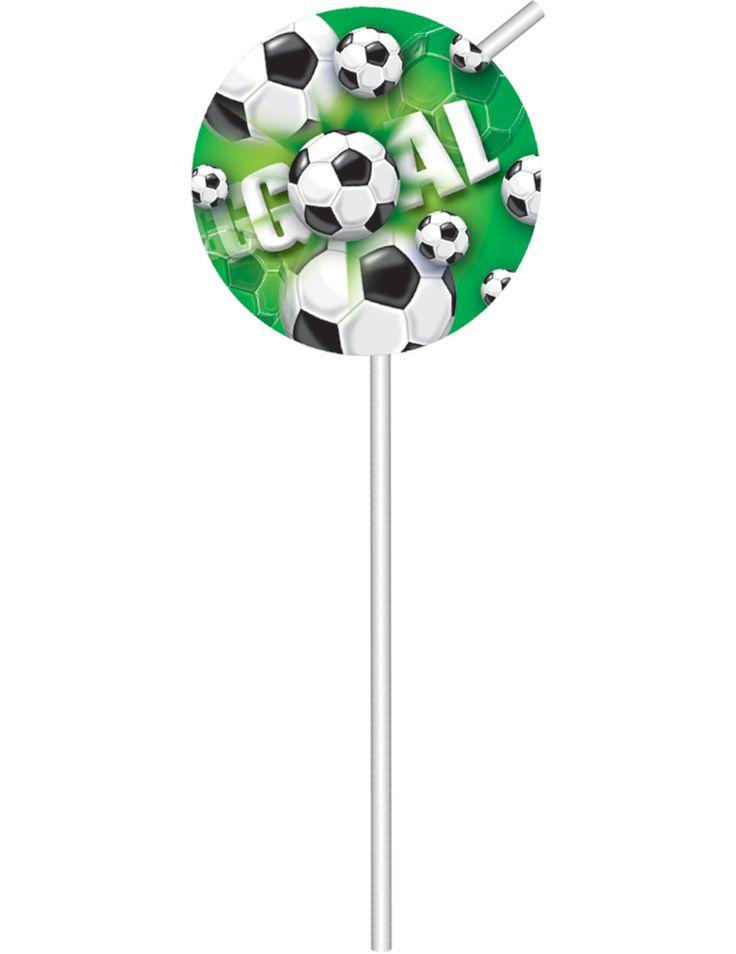 6 cannucce decorate con medaglioni di calcio su VegaooParty, negozio di articoli per feste. Scopri il maggior catalogo di addobbi e decorazioni per feste del web,  sempre al miglior prezzo!