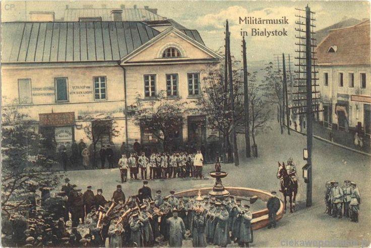 orkiestra nieieck koło fontanny - 1915 r.