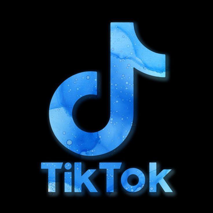 Tik Tok Logo Tik Tok In 2020 Snapchat Logo Blue Wallpaper Iphone Blue Aesthetic Pastel