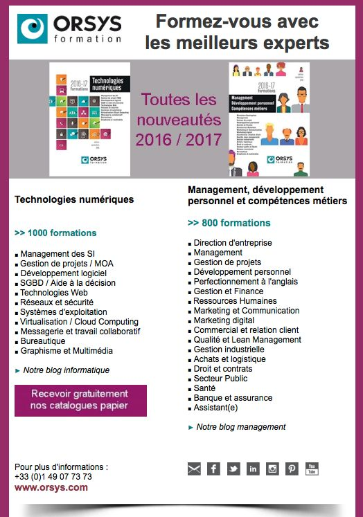 Catalogues 2016 #catalogues #orsys