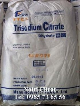 Sodium citrate, Trisodium citrate, natri citrat, C6H5Na3O7