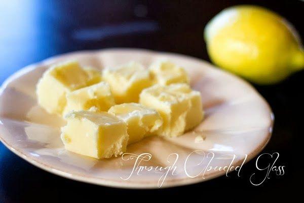 Through Clouded Glass   Lemon Fudge Recipe