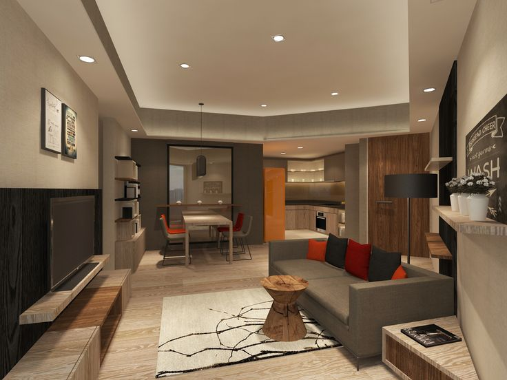 Living And Dining Space Of An Apartment In Sudirman Jakarta Designed By Studio Piu