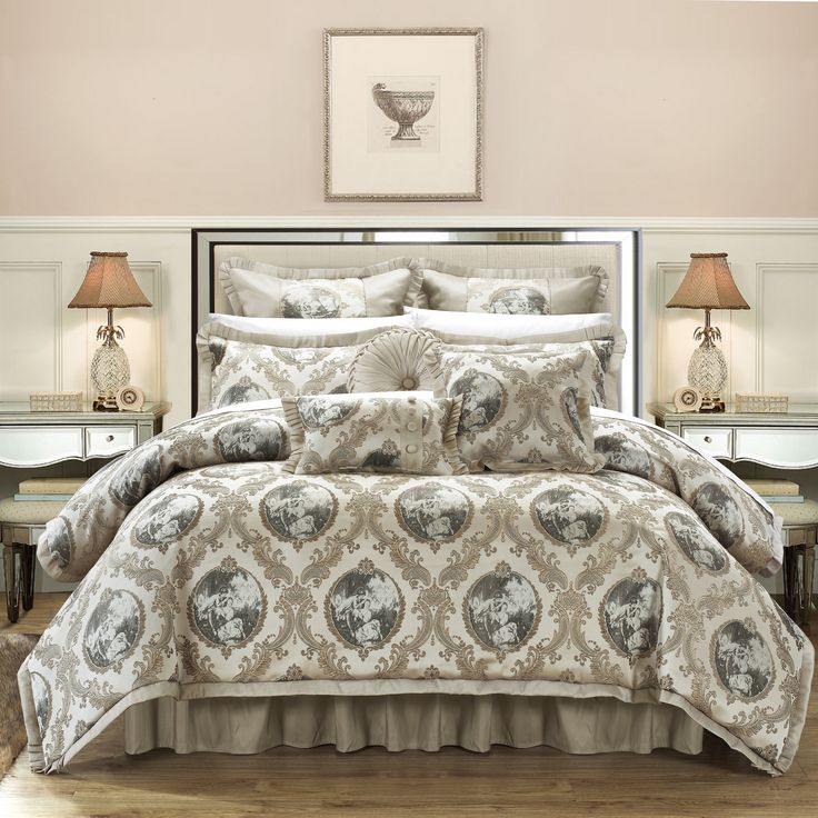 Chic Home 13-Piece Angelica Jacquard Luxury Comforter Set