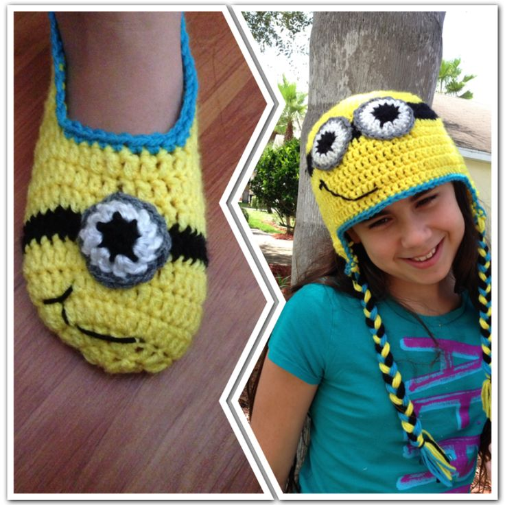 A minion hat needs matching minion slippers, right? - CROCHET