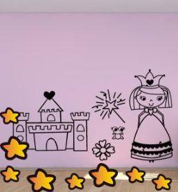 Buenos días, os queremos mostrar un original diseño para decorar habitaciones infantiles. Vinilo de princesas y castillos ideal para crear espacios mágicos para los más pequeños. https://www.vinilosinfantiles.com/vinilo-hada-madrina-v3029