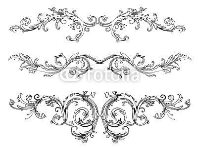 vektor ranken bl tter laub ornamente vector filigran flora convites pinterest. Black Bedroom Furniture Sets. Home Design Ideas