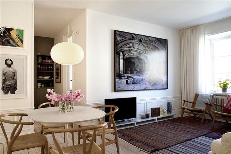 Pelle Lundquist Vintage modern mix home open plan