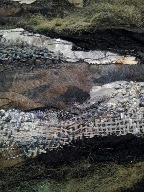 Textile art mixed media embroidery (Unable to identify the artist)