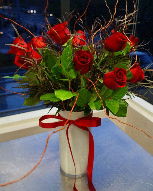 Romantic One Dozen Red Roses