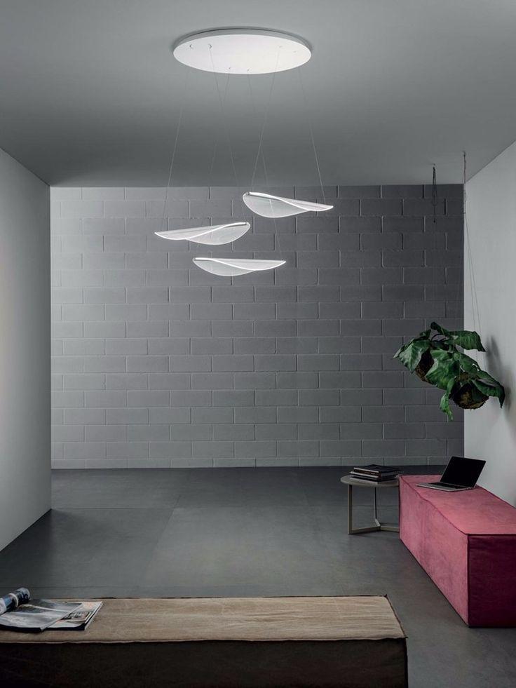 LED direct light PMMA pendant lamp DIPHY_P - Linea Light Group