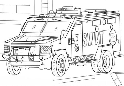 polizeiauto ausmalbilder - kinder-malvorlagentv