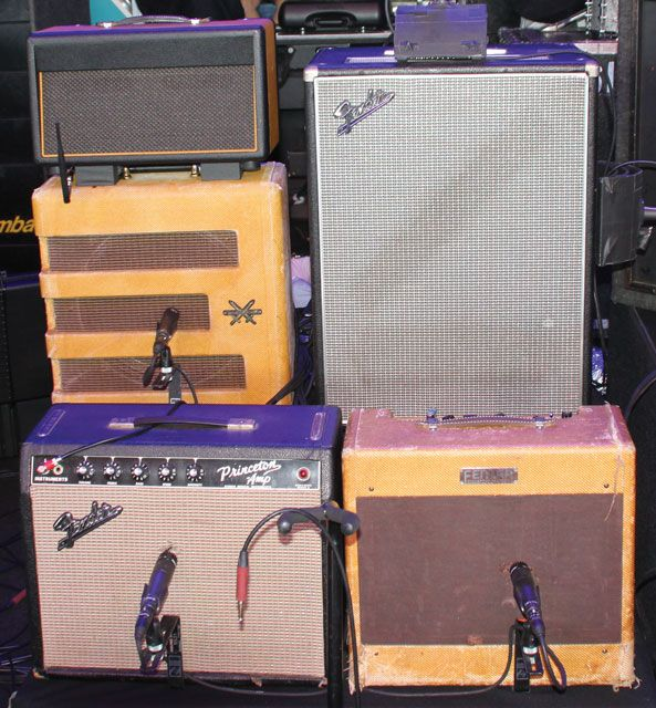We go inside Mike Campbell's drool-inducing lineup of vintage guitars and amps he brings on the road. Campbell's guitar tech, Steve Winstead, walks us through every guitar, amp, and pedal and lets us in on Campbell's time-tested formula for great tone. Here are some highlights.