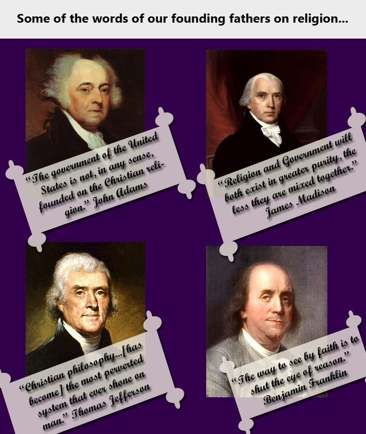 religion and the founding of the The final book in this series on religion and the founding comes from david holmes, professor of religious studies at the college of william and mary the faiths of the founding fathers, unlike the fo.