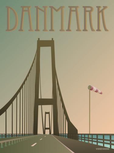 Storebæltsbroen » Denmark » art » vintage poster