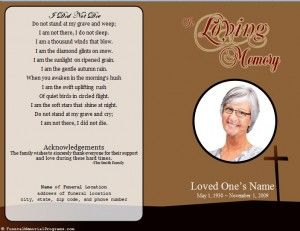 1000+ images about Funeral Program Template on Pinterest | Program ...