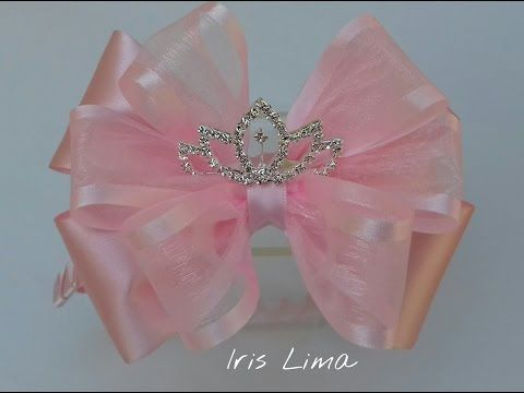 Como fazer laço tradicional / D.I.Y. ,Tutorial , Pap By Iris Lima How To Make a Hair Bow - YouTube