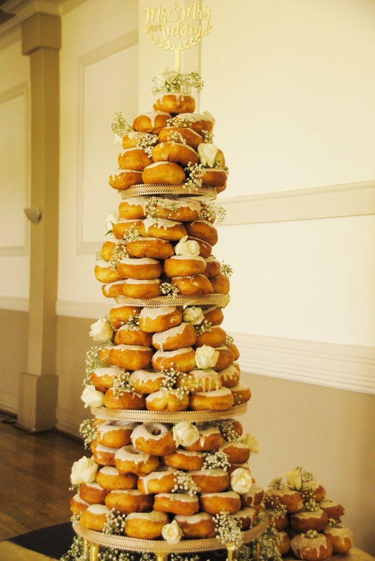 Our doughnut cake #doughnuts #wedding
